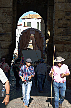31st August 2014 - Carmona - Sevilla - Spain - Yearly pilgrimage in the honour of the patron saint XV
