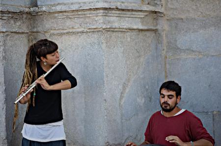 urban life: Girona (Espa�a) - 19-10-2014 La vida urbana - M�sico de la calle 24