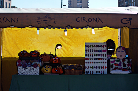 urban life: Girona (Spain) - 19-10-2014 Urban life - Street booth 19