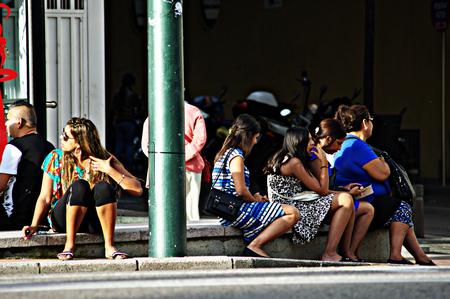 urban life: Blanes (Girona) Espa�a - 19-10-2014 La vida urbana - Sentado joven 15 Editorial