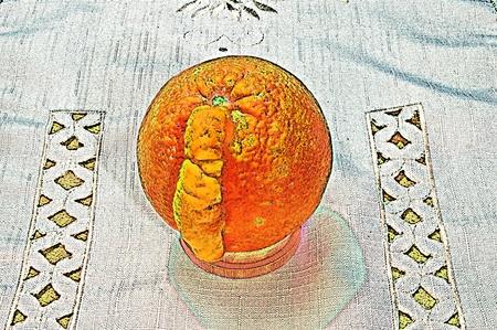 Still life from an orange. Variation 2