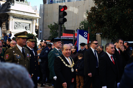 mayor: Granada 2nd January 2015 - Jose Torres Hurtado, lord Mayor celebrating the conquest of Granada by the Christian army