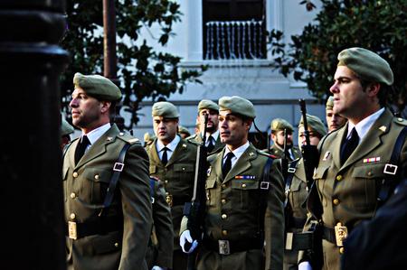 granada: Granada (Spain) 2nd January 2015 - Parade in the celebratoion of the conquest of Granada