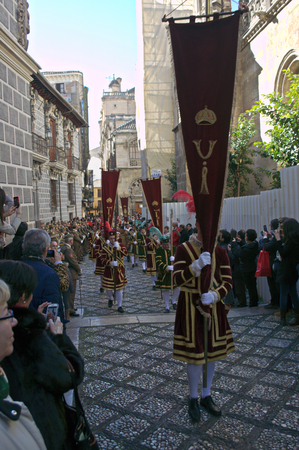 conquest: Granada (Spain) 2nd January 2015 - Parade in the celebratoion of the conquest of Granada