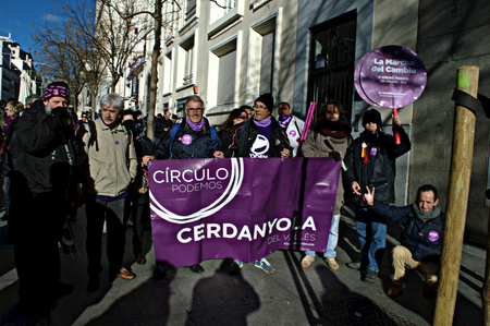 demonstration: Madrid 31 January 2015 - Demonstration on behalf of ?PODEMOS?, the new left party