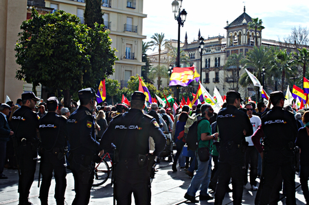 demonstration: Seville (Spain) 28th February 2015 -Demonstration on the Day of Andalusia Editorial