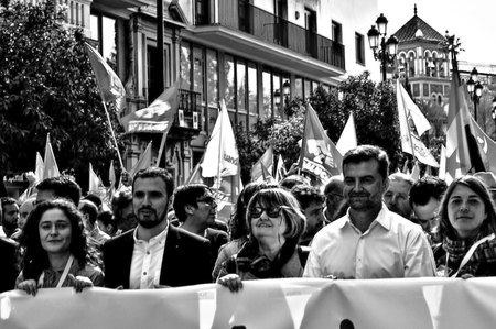 the celebrities: Seville (Spain) 28th February 2015 - Demonstration on the Day of Andalusia - celebrities
