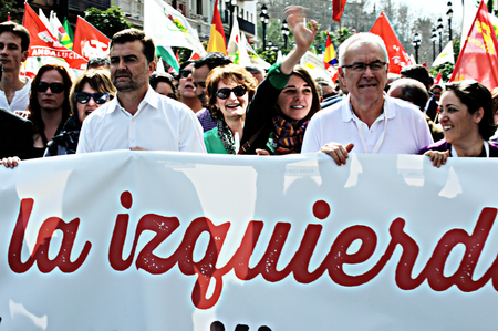 the celebrities: Seville (Spain) 28th February 2015 -Demonstration on the Day of Andalusia - celebrities Editorial