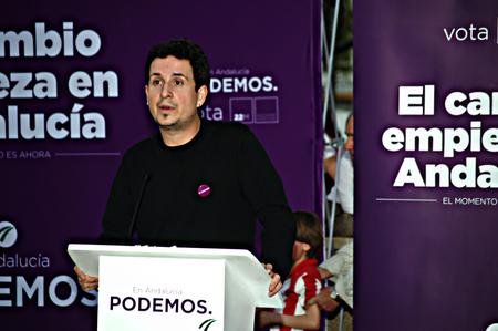 carmona: Carmona, Sevilla, Spani,  11 March 2015 -  Political meeting of PODEMOS, the new left wing party