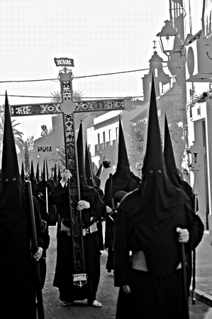 holy week in seville: Carmona, Seville, 1 April, 2015. Holy Week celebrations
