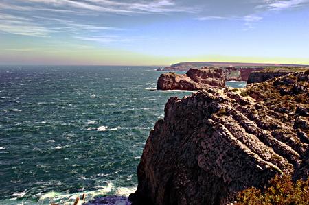 algarve: Cape San Vicente. Algarve. Portugal