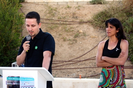 carmona: Carmona Seville 21st May 2015 Antonio Toranzo a young politician during his intervention