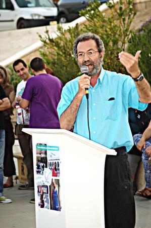 carmona: Carmona Sevilla 21st May 2015 Electoral campaign  Jose Larios speaking