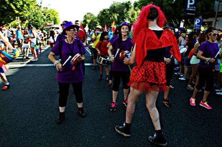 gay parade: 2Seville - Spain - 27-6-2015 Gay Pride demonstration and parade Editorial