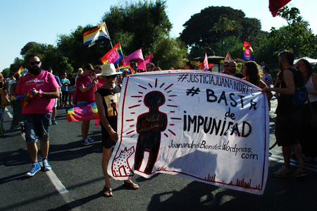 homosexuals: Seville, Spain -27-6-2015 -Gay Pride demonstration and parade