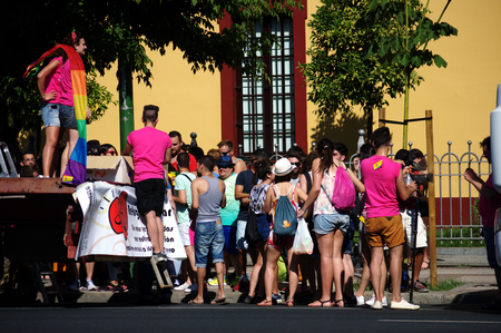 parade: Seville 27-06-2015 - Gay Pride demonstration and parade