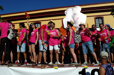 gay parade: Seville 27-06-2015 - Gay Pride demonstration and parade