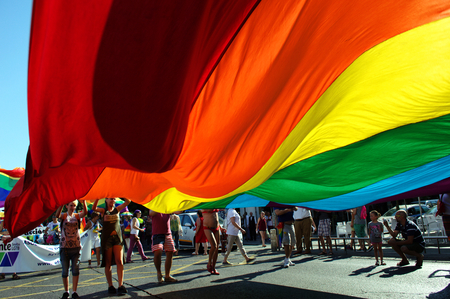 homosexuals: Sevill Spain 27-06-2015 - Gay Pride Demonstration and parade