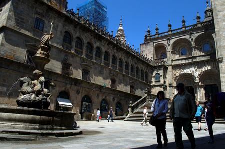 compostela: Fountain in Santiago de Compostela