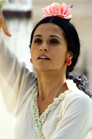 sevilla: Sevilla 29 August 2015 - Urban life - Flamenco outdoors