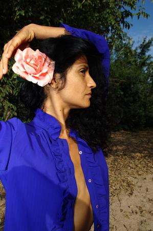blusa: Blusa azul abierto 18