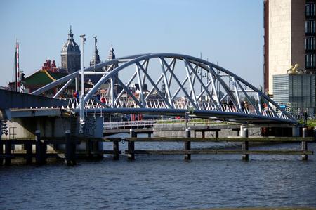 modern bridge: Modern Bridge in Amsterdam