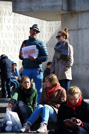 dam square: Netherlands, Amsterdam 11 October 2015 - Urban scenes - people near Dam Square