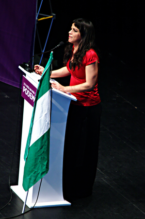 political party: Sevilla - Spain - 17th December 2015- PODEMOS - Meeting of this political Party Editorial