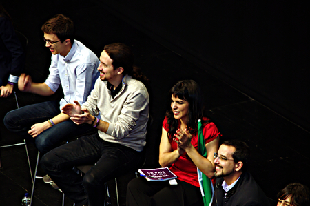 political party: Sevilla - Spain - 17th December 2015- PODEMOS -Meeting of this political Party Editorial