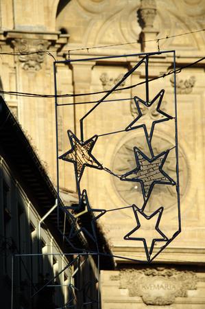 cristmas: Cristmas starsa in Granada Spain