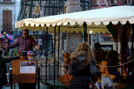 christmas atmosphere: Granada - Spain 26th December 2011 - Urban life - Christmas atmosphere - street market Editorial