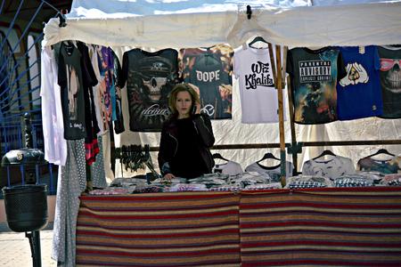 carmona: Carmona (Sevilla) Spain 9th April 2016 - Street market