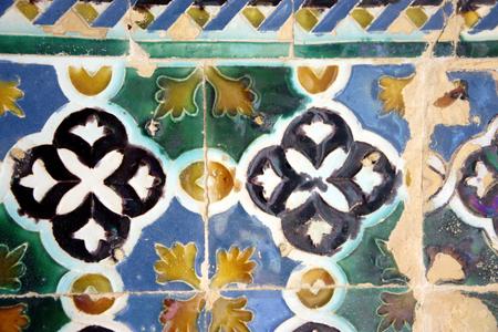 Ceramic tiles in a museum of Seville