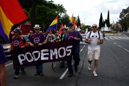 seville: Seville - Sapin - 28th May 2016 - Dignity March, a political protest