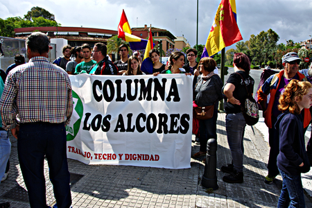 dignity: Seville - Sapin - 28th May 2016 - Dignity March, a political protest