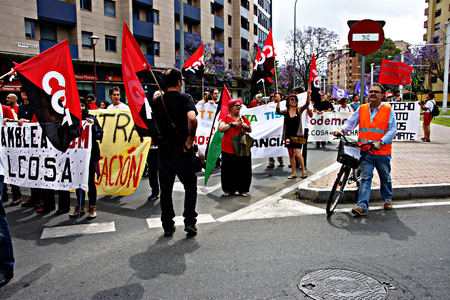 dignity: Seville - Spain - 28th May 2016 - The Dignity March, a political protest