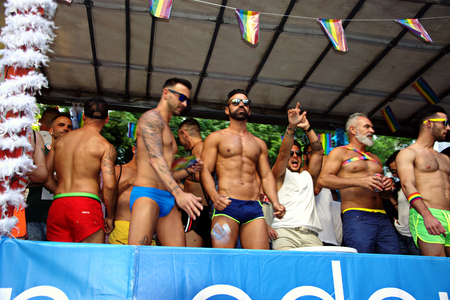 gay girl: Seville, 24th June 2016 - Celebrations on the Day of Gay Pride