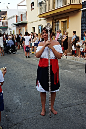 patron: Torre del Mar - Malaga - 16th July 2016 - Procession in the honor of the Holy Virgin, patron saint of the sailors Editorial