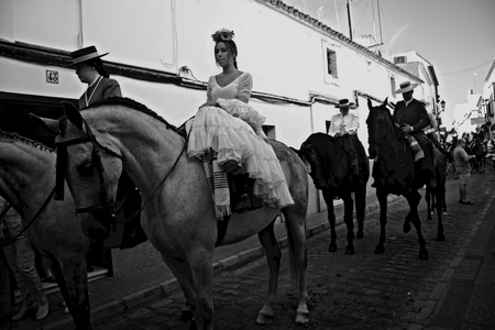 pilgrimage: Carmona - Seville - Spain 4th September 2016 - Procession and pilgrimage in honour of the patron saint. Horse