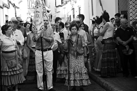 carmona: Carmona - Seville - Spain 4th September 2016 - Procession and pilgrimage in honour of the patron saint
