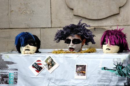 puppets: Seville, Spain, 14th September 2016, Puppets in the street Editorial