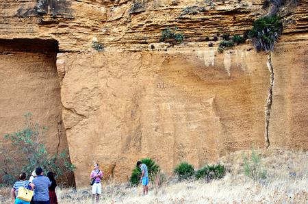 Carmona, Seville, Spain, 17th September 3018 - Exploring the exterior of La Batida Cave Editorial