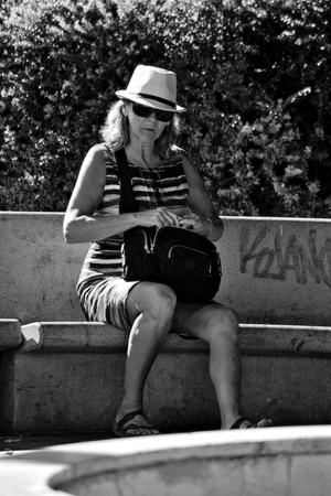 Sevilla (Spain) 27th September 2016 - Urban life - Musician playng the flute
