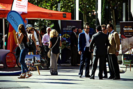 Seville, Spain, 27th September, 2016 - Urban life  -People in day of Tourism celebrations