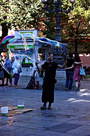 Granada, Spain, 1st October 2016- Urban life, The balloon maker
