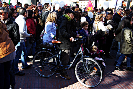 salud publica: Seville, 15th January 2017. Political demonstration in behalf of the public health service