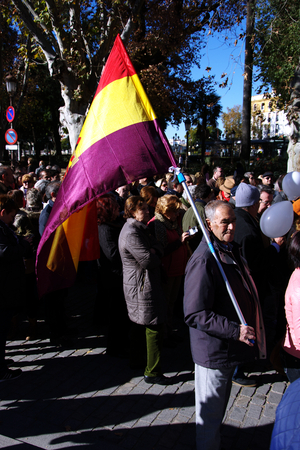 Seville, 15th January 2017. Political demonstration in behalf of the public health service