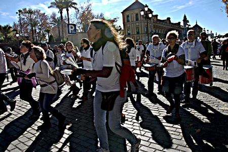 Seville, 15th January 2017 - The white Tide - a political demonstration in behalf of the health services