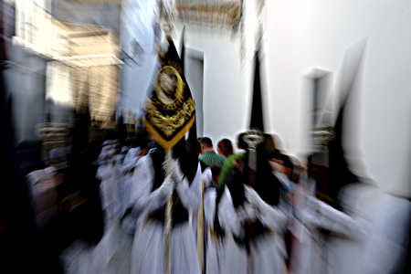 carmona: The Holy Week in Carmona (Seville), Dynamism Stock Photo