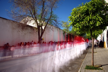 Carmona, Seville, 11th April 2017 - Holy Week Celebrations - Ghost procressions